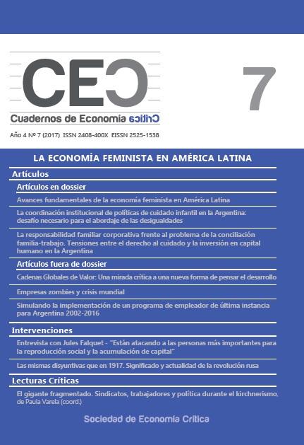 Ver Vol. 4 Núm. 7 (2017): La economía feminista en América Latina